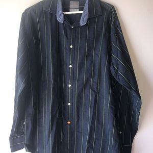 Blue and green Thomas Dean button up